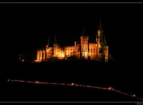 Burg Hohenzollern bei Nacht...